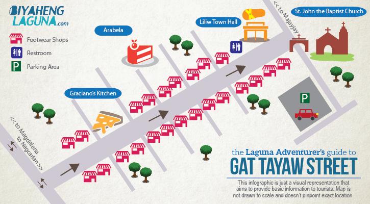 Guide Map of Liliw Laguna, Gat Tayaw Street